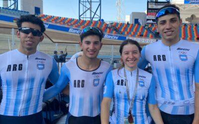 Grandes actuaciones argentinas en el Mundial Juvenil de ciclismo de pista de Egipto
